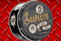 Suavecito is proud to introduce our Oil Based Pomade for those who want a workable, but long-lasting hold with a traditional feel. We've expertly blended together just three ingredients to create a pomade that will help you achieve any style - from a smooth, sleek slickback to a sky-high pomp. This Oil Based Pomade provides a healthy shine and a controlled hold on even the thickest, most unruly locks creats a Medium hold and shine.