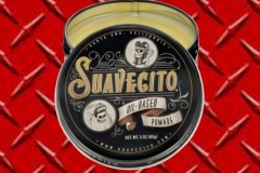 Suavecito is proud to introduce our Oil Based Pomade for those who want a workable, but long-lasting hold with a traditional feel. We've expertly blended together just three ingredients to create a pomade that will help you achieve any style - from a smooth, sleek slickback to a sky-high pomp. This Oil Based Pomade provides a healthy shine and a controlled hold on even the thickest, most unruly locks creates a Medium hold and shine.